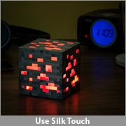 (via ThinkGeek :: Minecraft Light-Up Redstone Ore)