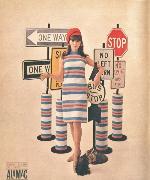 ladiesofthe60s:  Alamac clothing advertisement, 1967.