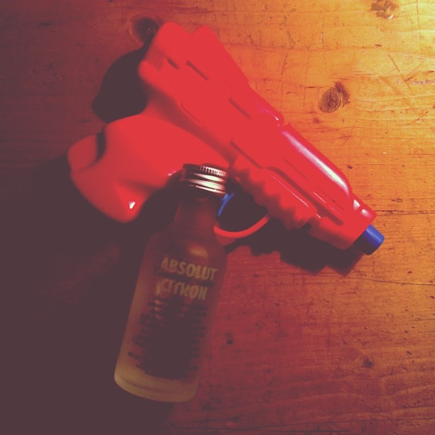 Im so fucking ready to do some shots this weekend. #lockandload #armedanddangerous #puntastic