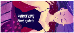"usedbandaid:  Hello everyone! I've put up the first ten pages of Woman King. I've pre made the rest of the chapter so it will not be long before the rest of it is out. I'm really nervous about putting this on the internet - mainly because I've been looking at the damn thing for two months and I'm having the typical artist reaction of ""Oh fuck, this looks like total crap"". However here I am throwing caution to the wind :) I hope some of you enjoy what I've started! You can either click on the image above to go to the beginning of the comic or click here."