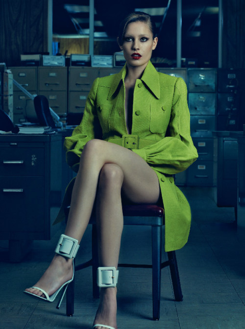 DANSK Spring-Summer 2013 issue HUMAN RESOURCES Nadja Bender wears Gucci SS2013 total look  Photography Michael Schwartz. Fashion editor David Gómez-Villamediana. Make up Carolina Dali for Chanel Cosmetics. Hair Roberto Di Cuia.