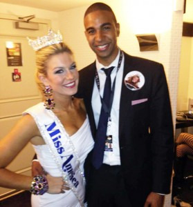 mrbootyluver:  Miss America 2013 Mallory Hagan and her bf Charmel Maynard works at JP Morgan as an investment banker. She represented New York but hails from Alabama. It's a new day in America