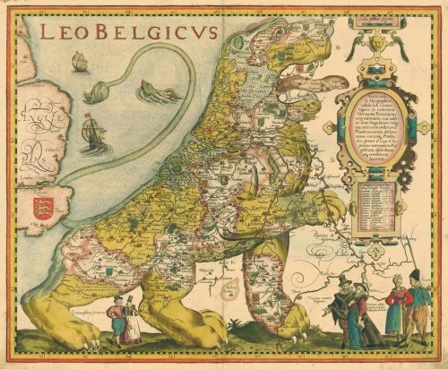 time-for-maps:  Leo Belgicus, 1617.