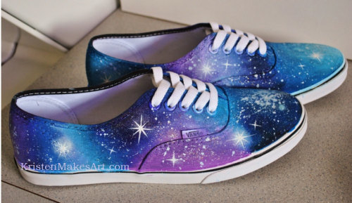 luminesa:  Galaxy-Painted Vans