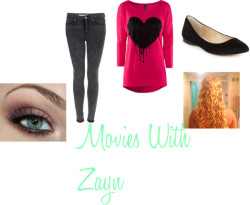 Movies With Zayn by sarahlovezniall featuring skinny fit jeansH&M , $16 / Topshop skinny fit jeans / INC International Concepts pointed toe flat