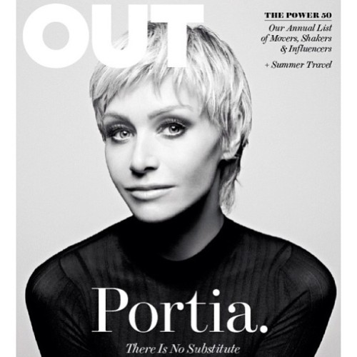 ellendegeneres:  Portia is on the cover of OUT magazine, and I'm #2 on their Power 50 list! How gay are we?