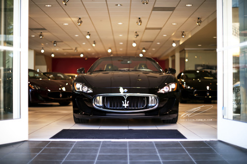 Maserati GranCabrio Sport rolling out dealership.