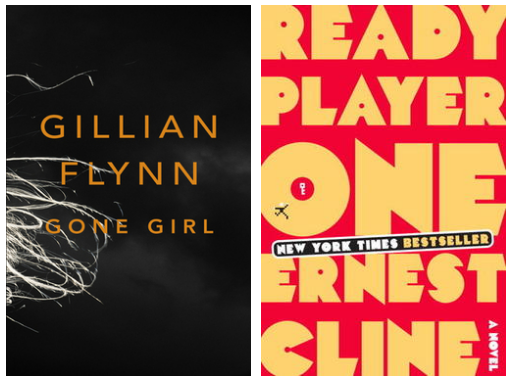"My cannonball read reviews (# 24, 25).    24 / Gone Girl by Gillian Flynn  Dark and twisty. Fun and depressing. Full of unreliable narrators. It's been a while since I read anything resembling a mystery, so this was a breath of fresh air.  Like in my review of Room, I really don't want to give anything away plot-wise, but I will say this: the first part of the book plays like a pretty standard whodunnit. At the halfway mark, though, shit gets real. Ms. Flynn is a crafty, crafty lady.  Four stars. Trust no one.  25 / Ready Player One by Ernest Cline  One phrase kept running through my head as I read: ""nerd nostalgia porn."" Lots of my friends inhaled and enjoyed this book, but I was slightly less charmed.  Combining elements of Reamde, Neuromancer, For the Win, and strongly reminiscent at times of Ender's Game (which, strangely, was not referenced in the book, unlike every other piece of media released in the 1980s), Ready Player One is an enjoyable ""fight the man"" tale set in a near-future where nearly everyone lives in squalor and spends most of their time ""plugged in"" to Oasis, the ultimate cyberspace environment.  Our protagonist, Wade Watts, is one of thousands of Oasis-dwellers on a hunt for a mysterious prize. He's just a poor kid, and he's up against a group of professional ""gunters"" (""egg hunters,"" as in ""easter egg"") who aren't just fighting dirty in the game. Hijinks ensue.  Three stars. Not totally for me, but fun."