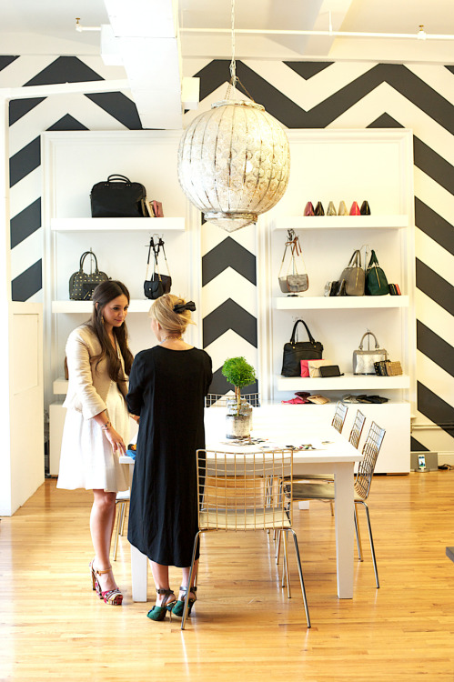 Chevron walls in the Deux Lux headquarters… | www.matchbookmag.com