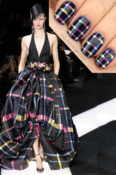 missladyfinger:  MANICURE MUSE: Armani Privé Couture Spring '13 Armani Prive Couture would totally up the Red Carpet ante. Agreed? Get the Ladyfinger.