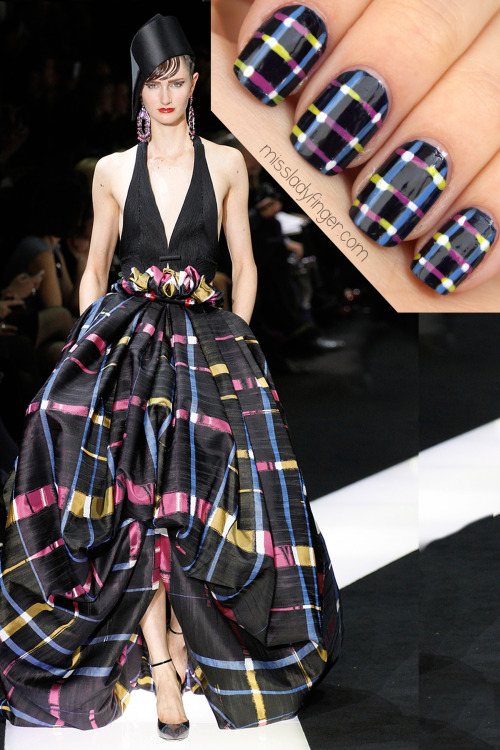 MANICURE MUSE: Armani Privé Couture Spring '13 Armani Prive Couture would totally up the Red Carpet ante. Agreed? Get the Ladyfinger.