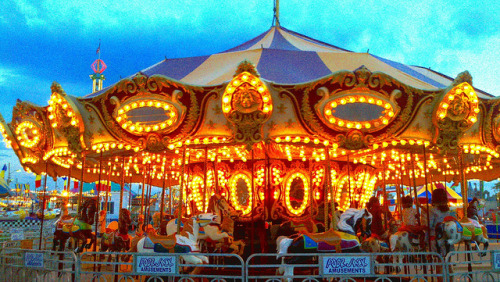 Carousel Lights at Sunset on Flickr.