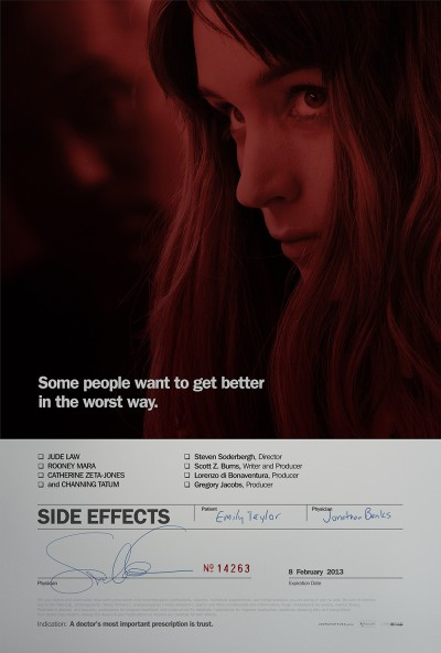 bobbyfinger:  This Side Effects poster is exquisite. Oh, and the movie is a wonderfully bonkers little thriller with A-list talent all around. (via Side Effects: Extra Large Movie Poster Image - Internet Movie Poster Awards Gallery)