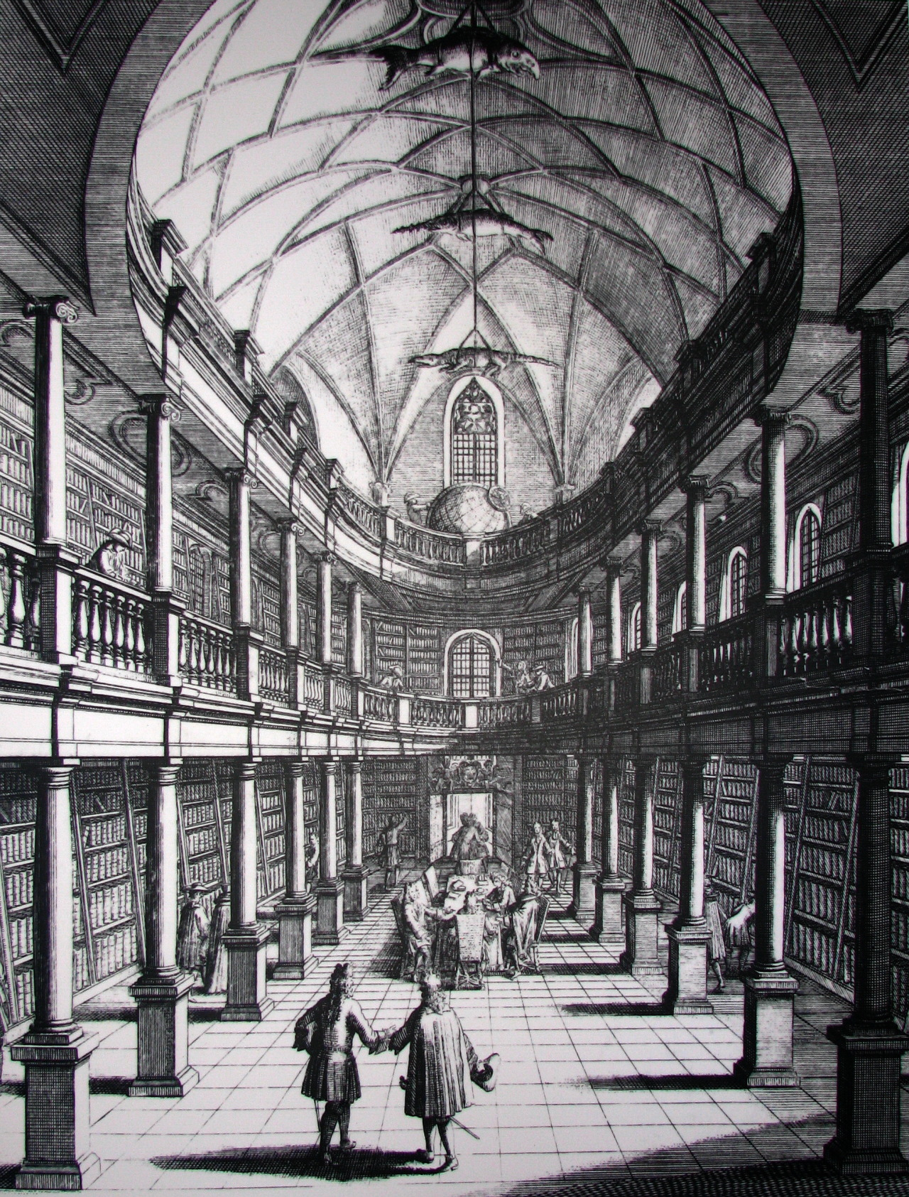 The library inside the Wasserkirche in 1719, Zürich