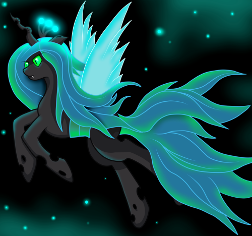 mlpfim-fanart:  Flying Chrysalis by ~Akkiv