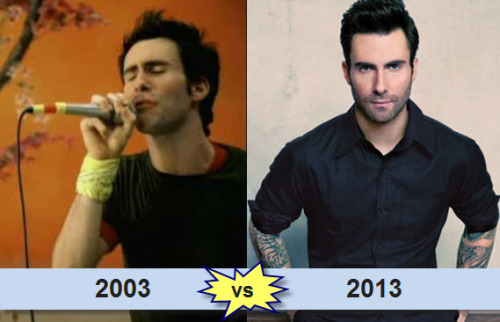 Happy 34th Birthday Adam Levine! Which Adam do you like more - 2003 or 2013?