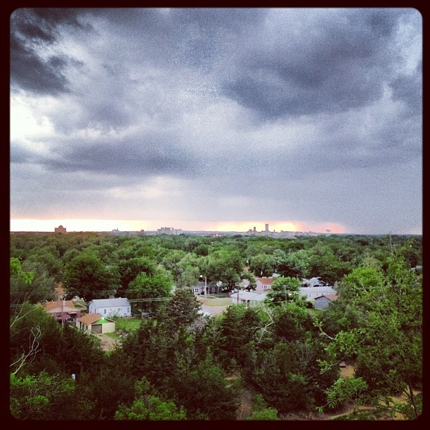 Rain rolling into Salina  (at Indian Rock)