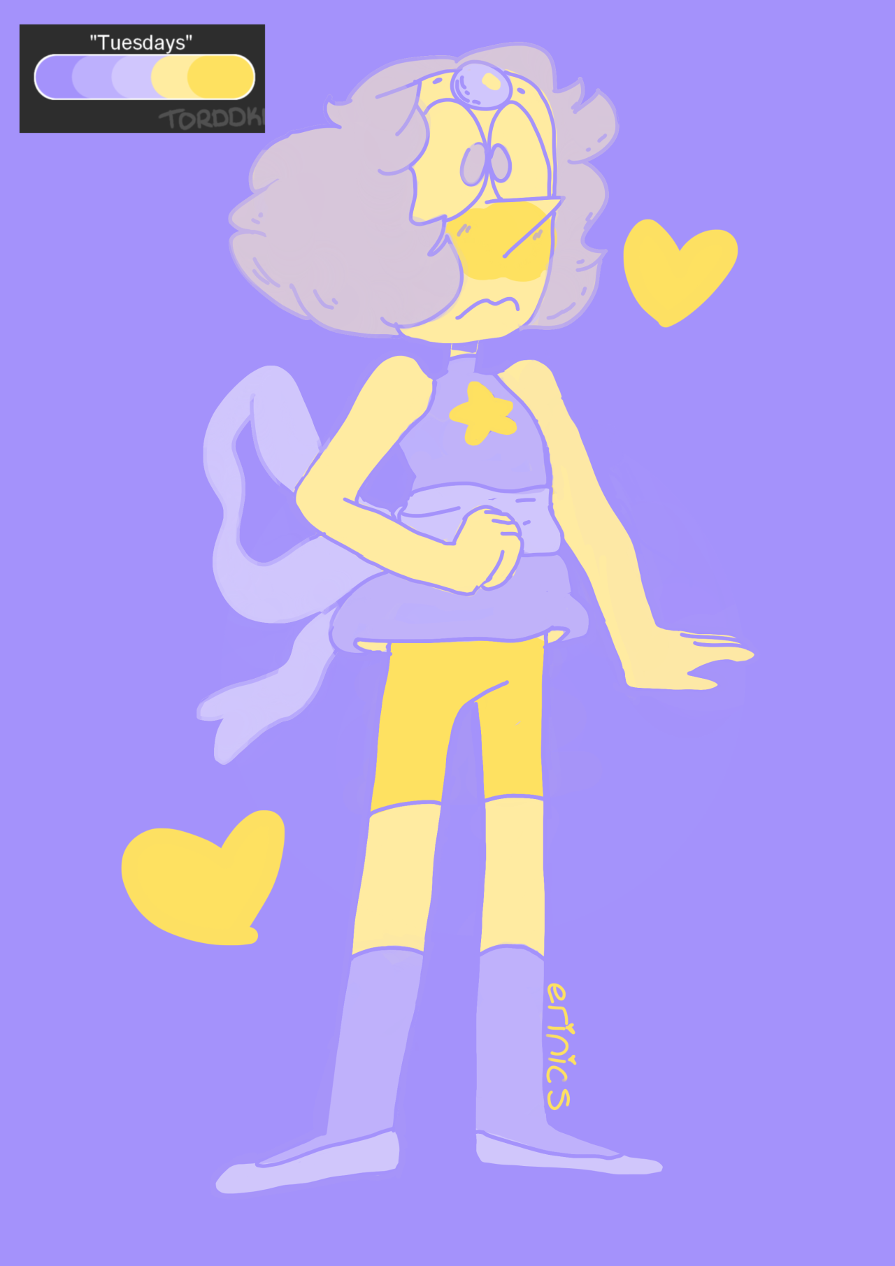 "lmaoisreallyfunny said: Can you do Pearl in the ""Tuesdays"" color pallet....PS I love your art Answer:"