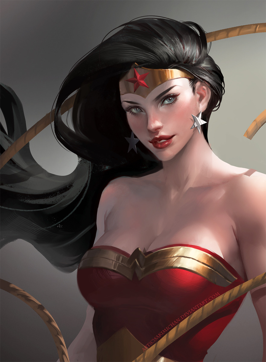 Wonder woman, I love love this character, I remember when I was younger , I always use to watch the justice league in the morning, was so awesome XD I might refine this a bit more or try something different with the hair later : )