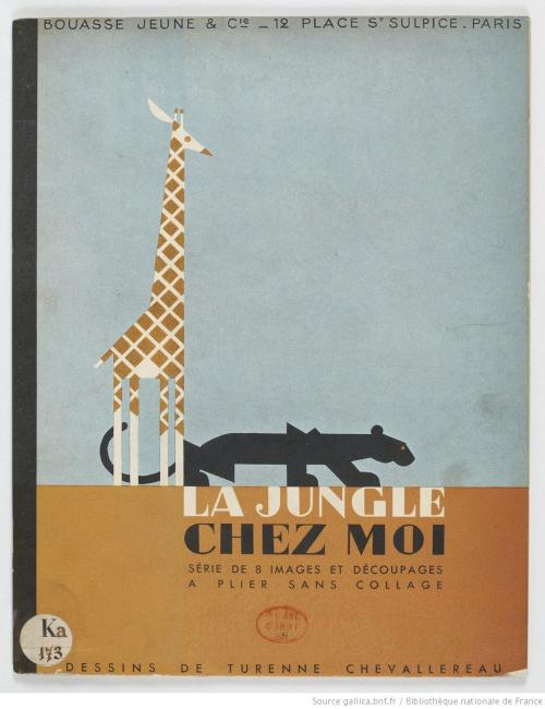 The cover of Turenne Chevallereau's La Jungle Chez Moi, 1938 (via dessins de Turenne Chevallereau)