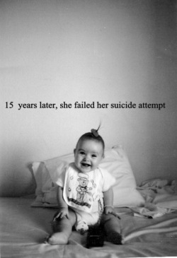 missreckless-imdefenseless:  suicide-everyday:  suicide-everyday.tumblr.com Follow for black and white, suicidal, depression, eating disorder etc pictures. Be careful it can be triggering.   I hate seeing these pictures :c