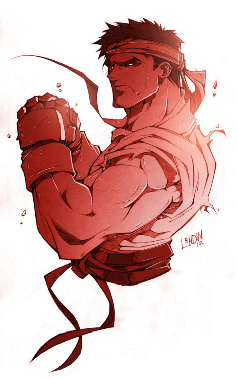 gamefreaksnz:  Ryu Art by Ninni Landin