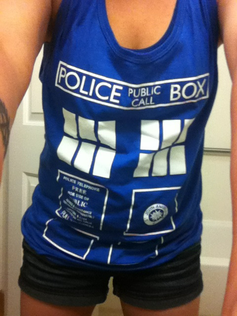 Finally got to wear my Tardis tank!