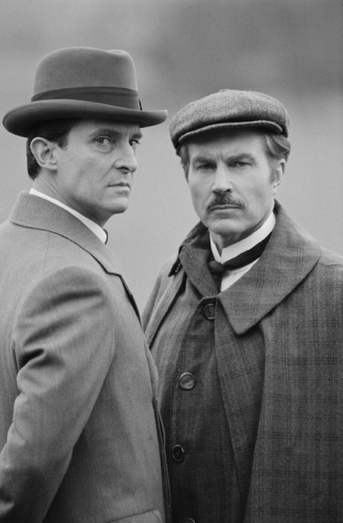 tea-at-221b:  Jeremy Brett and David Burke Promotional Image