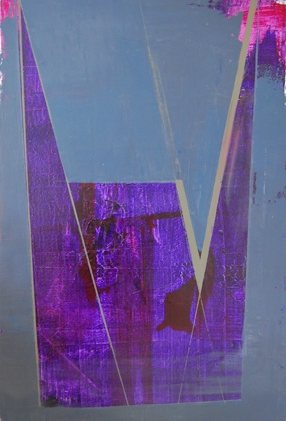 Untitled Dark Purple, 24x36, oil on canvas, 2012