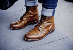 maninpink:  Ben Ferrari's: Street Style Boots on the Ground