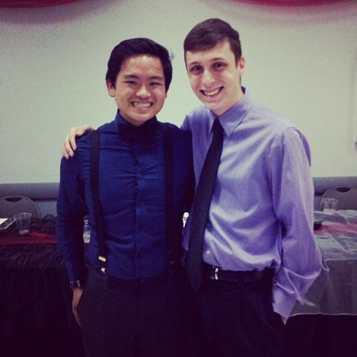 Band banquet! ! Last one for me c: favorite picture of Colin and I. Forever will i cherish these memories and friends i've made in the last 4 years. #band #swag #swagger #spiffy #amazing #friends #banquet #handsome #cute