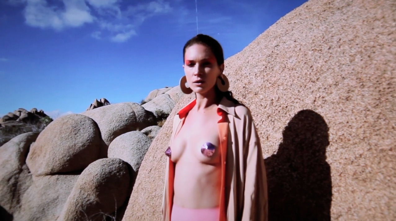 A surrealist desert adventure ensues in filmmaker Columbine Goldsmith's fashion short starring supermodel Erin Wasson