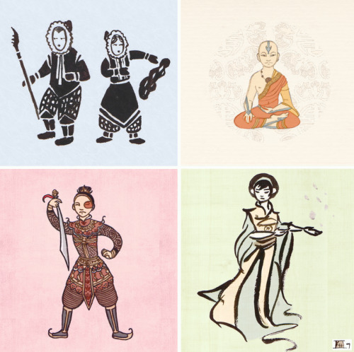 everything-legendofkorra:  AtLA - Stylized by =RoseMuse