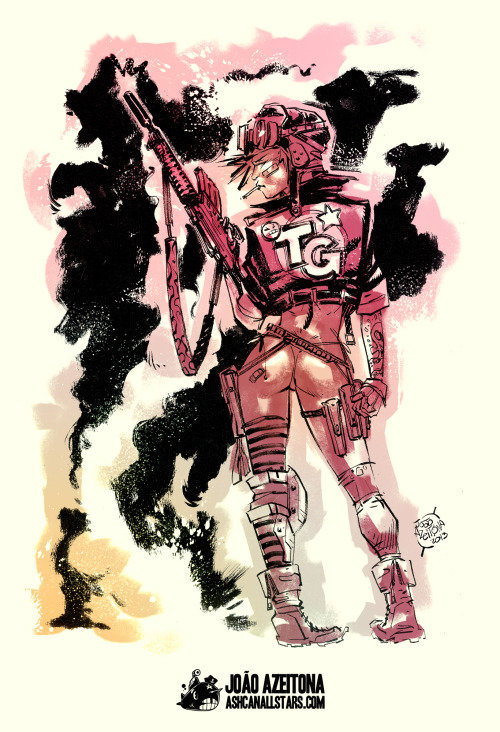 "ashcanallstars:  Tank Girl by João AzeitonaFor ""Tank Girl"" Week at Ashcan All-Stars"