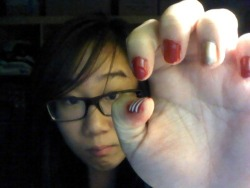 Christmas Nails, week #1. I'm getting lazy with my nail art :(