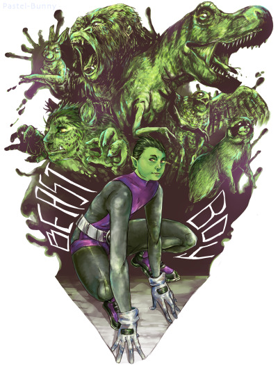 Beast Boy from Teen Titans! Photoshop CS6 (7 hours)