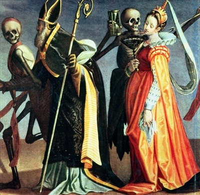 prettyskeletons:  Dance of Death, 16th century.