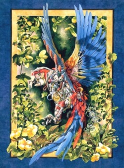 contemporary-artist-gallery:  Heidi Taillefer The Real Macaw 1995 20 x 30 in Acrylic on Paper