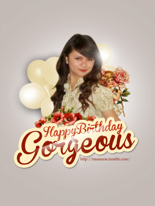 Happy Birthday Gorgeous ANJ! - pahabol lang na gift. Hope you like it! Nga pala, alam ko maganda ka na but stay as beautiful as you are inside & out. I know you're such a wonderful person kahit hindi pa tayo nagkikita. And I'm really looking forward to meet you, papapicture talaga ako…IDOL kita eh! Hehehe… Hope you had a wonderful day. HAPPY BIRTHDAY AGAIN!!!