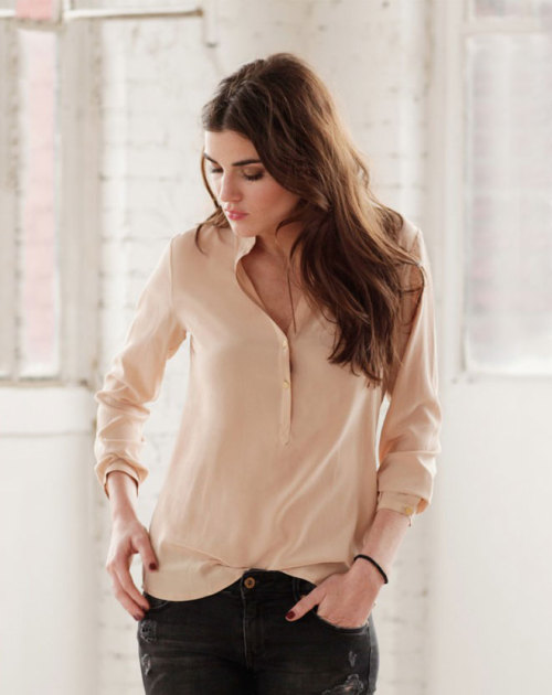 This silk blouse seems like something I'd wear.  If anyone knows who the author of the photograph is, please let me know :)