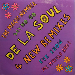 "De La Soul ‎– 4 New Remixes 12"" (1989)"