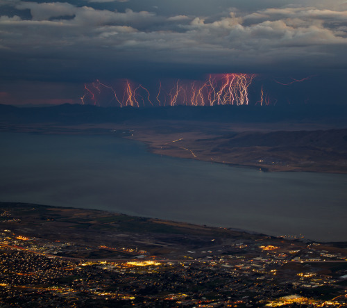 travelingcolors:  Storm near Mount Timpanogos | Utah (by Bill Church)