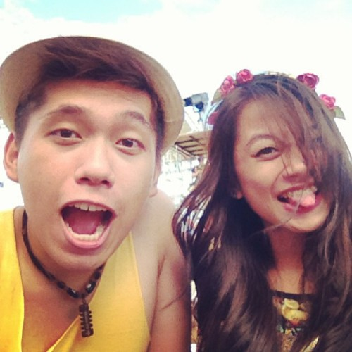 Making them weird and funny faces with @lalabells #wanderlandmusicfest