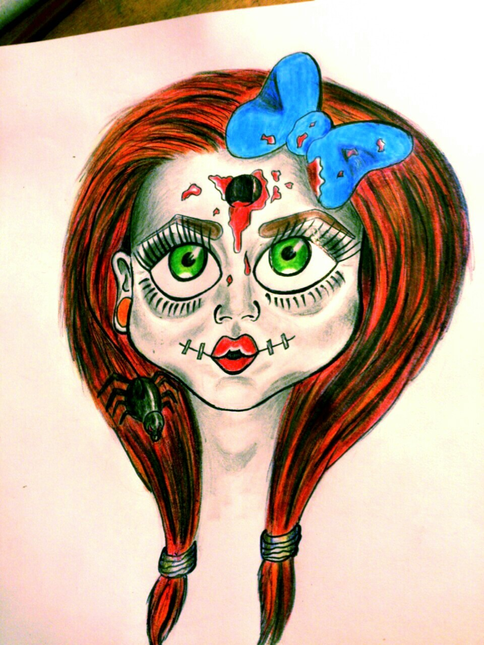 Creepy dolly :)  Gonna do some more of these I think!