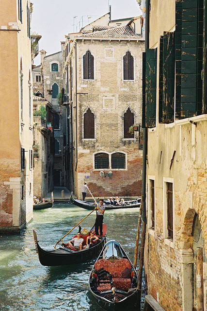 The Gondolas in Venice by Nastasiya-k on Flickr.