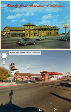 timeplacetime:  Barstow postcard and Street View