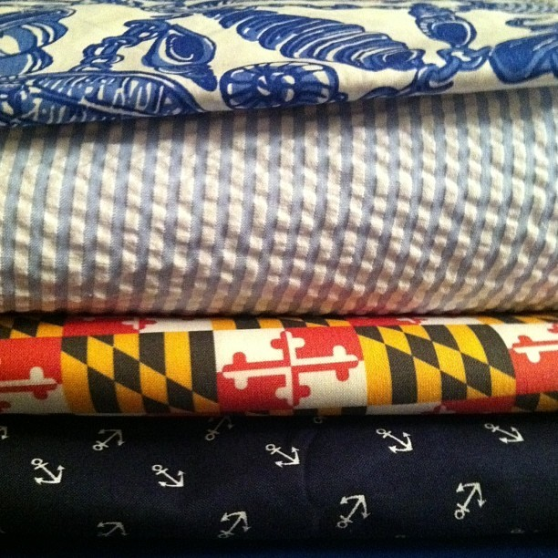 bowtiegirl:  When I can't sleep, I make ties! @chesapeaketides #bowtie #bowties #maryland #chesapeaketides #chesapeake #tides