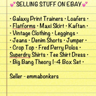 Items starting at 99p. Grab yourself a bargain! #ebay #instaebay #sell #selling #clothes #fashion #shoes #flatforms #trainers #loafers #maxiskirt #kaftan #vintage #rockabilly #shorts #denim #leggings #jeans #croptop #fredperry #fp #fredperrypolo #polo #poloshirt #superdry #superdryshirt #checkeredshirt #teeshirt #dress #bigbangtheory #emmabonkers  (at Greenhill)