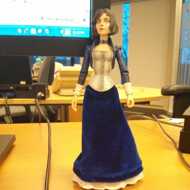 Creepy looking Elizabeth has a new home. #bioshockinfinite