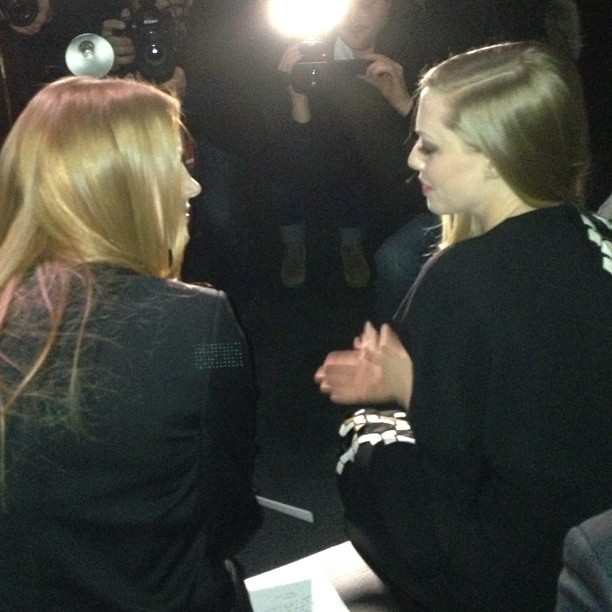 Jessica Chastain and Amanda Seyfried at givenchy #pfw